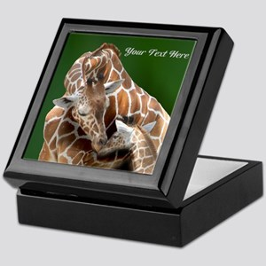 Giraffe Mom and Baby Keepsake Box